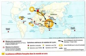 la présence miltaire française dans le monde 2012