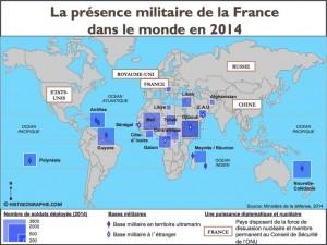 présence militaire frnaçaise en 2014